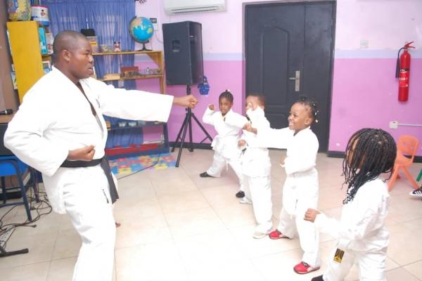 Taekwondo Extra Curricular Activities at Artville School, Chevron, Lekki Lagos