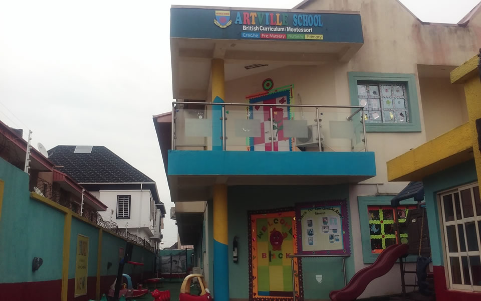 Artville School is a private Montessori Creche, Pre-nursery, Nursery and Primary school located at Chevy View Estate, Chevron, Lekki, Lagos state, Nigeria